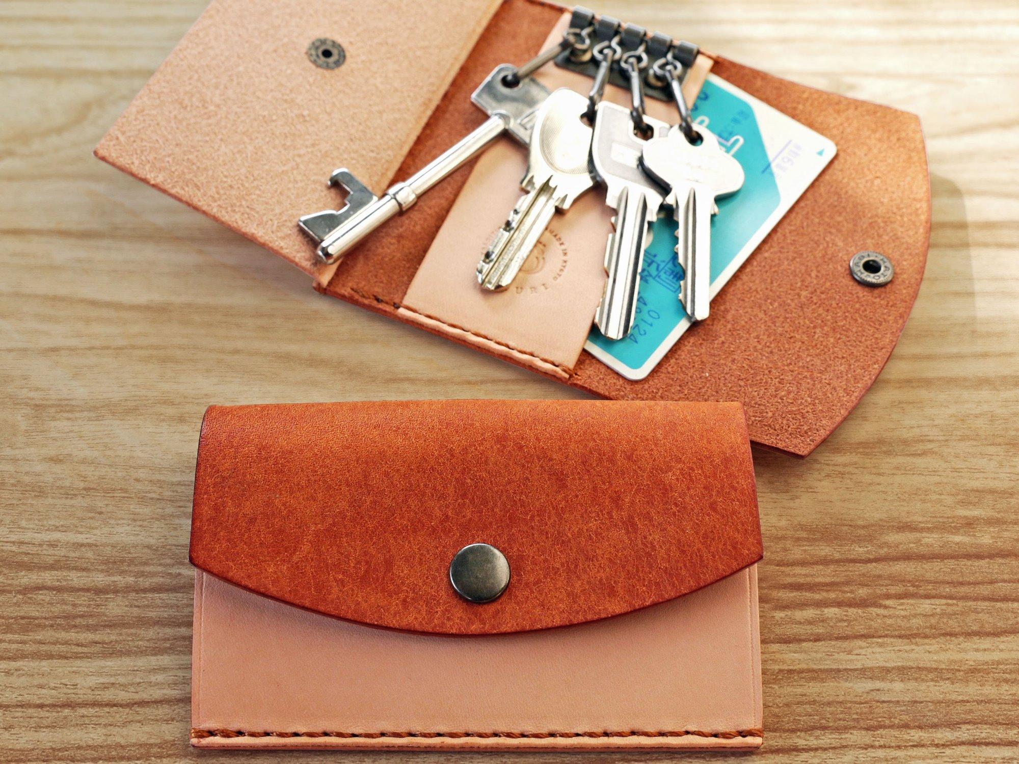 上質なレザーでつくる 手縫いの革キーケース