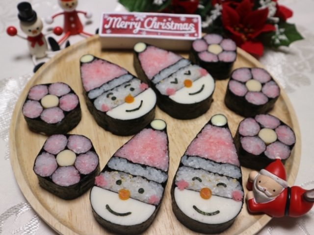 【HDC大阪 くらし向上計画】クリスマスの飾り巻きずし